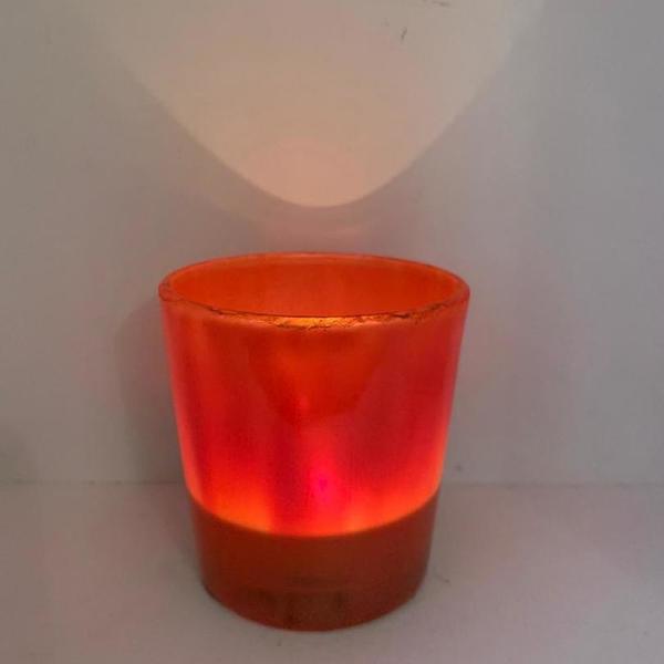 Theelicht oranje-parelmoer S